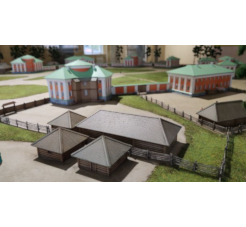 The model of the Round Square of Petrozavodsk of the 18th century in the National Museum of the Republic of Karelia